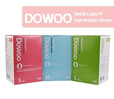 [멸균]DOWOO Sterile Latex PF Examination Gloves