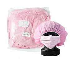일회용 부직포 헤드캡 머리망 30g PINK 비닐백 포장타입